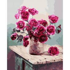 TCR3228 Яскраві троянди. Colorum. Набір для малювання картини за номерами