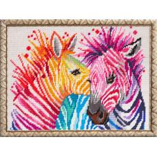 TL45 Зебри. Quick Tapestry. Набір для вишивання нитками на канві з нанесеним малюнком