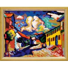 TL54 Мурнау - літній пейзаж. Ст. Кандинський. Quick Tapestry. Набір для вишивки нитками на канві з нанесеним малюнком
