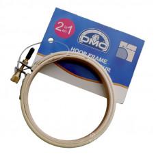 U2057 П`яльця-рамка для вишивки диамметр 10 см з металевим гвинтом, дерев`яні DMC