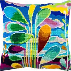 V243 Абстракція (дерева). Подушка. Чарівниця. Набір для вишивання полукрестом на канві з нанесеним малюнком
